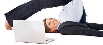 Finding time to stretch while working
